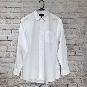 Bergamo New York white basic shirt long sleeves